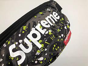 Сумка на пояс Бананка Барыжка Supreme Суприм Клякса Разноцветная с зеленым, фото 2