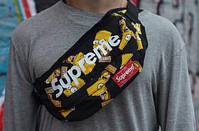 Сумка на пояс Бананка Барыжка Supreme Суприм Simpson Bart Симпсон Барт Черная, фото 3