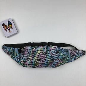 Сумка на пояс Бананка Барыжка City-A Zohra Треугольник Глаз Palace Разноцветная, фото 2