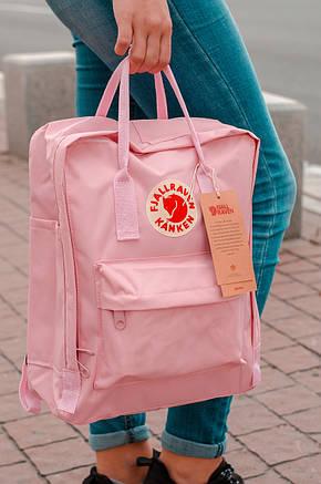 Городской Рюкзак Fjallraven Kanken Classic 16 л Розовый Персик, фото 2