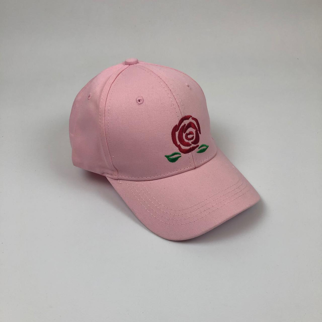 Кепка Бейсболка Мужская Женская City-A Big Rose с Розой Розовая
