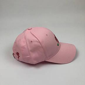 Кепка Бейсболка Мужская Женская City-A Big Rose с Розой Розовая, фото 2