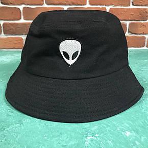 Панама Bucket Hat City-A Alien с Инопланетянином Черная, фото 2
