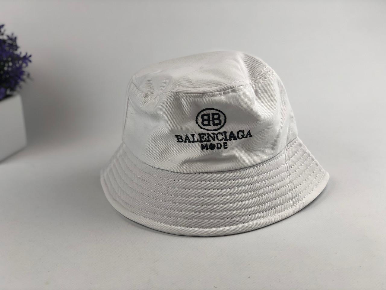 Панама Bucket Hat Balenciaga Mode Баленсиага Белая