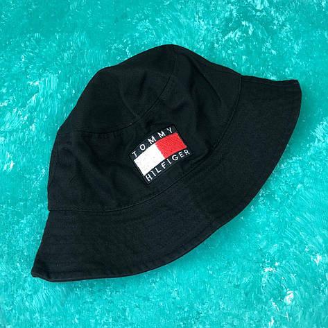Панама Bucket Hat Tommy Hilfiger Черная, фото 2