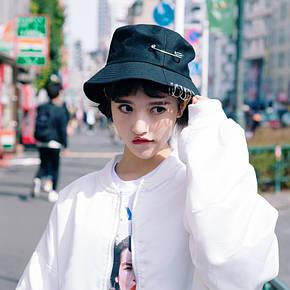 Панама Bucket Hat City-A K-Pop Японія з кільцями Чорна, фото 2
