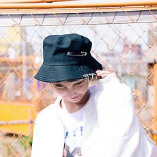 Панама Bucket Hat City-A K-Pop Японія з кільцями Чорна, фото 3