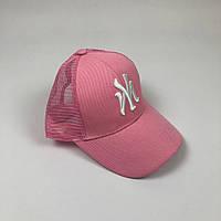 Кепка Бейсболка Тракер с сеткой New York Yankees NY Розовая