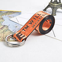 Ремень Пояс Off-White Belt Офф Вайт 150 см Оранжевый