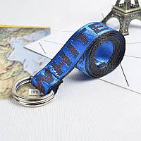 Ремень Пояс Off-White Belt Офф Вайт 150 см Синий