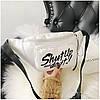 Сумка на пояс Бананка Барыжка City-A Shut Up and Do It PU Кожа Белая, фото 3