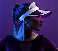 Женский пластиковый солнцезащитный Козырёк City-A на голову от солнца прозрачный Фиолетовый