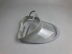 Женский пластиковый солнцезащитный Козырёк City-A на голову от солнца Прозрачный, фото 3
