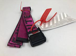 Ремень Пояс Off-White Original Belt Офф Вайт 150 см Малиновый с черной пряжкой, фото 2
