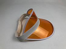 Женский пластиковый солнцезащитный Козырёк City-A на голову от солнца прозрачный Оранжевый, фото 2