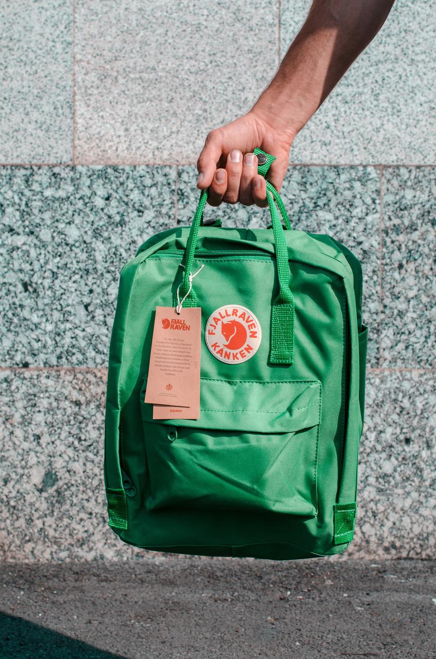 Рюкзак міський Fjallraven Kanken Classic 16 л Зелений