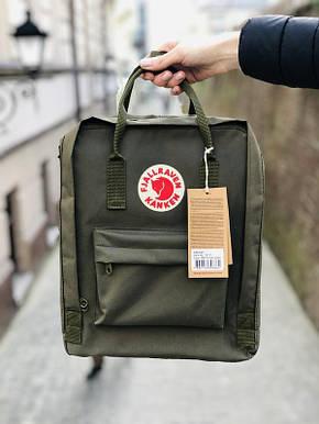Рюкзак міський Fjallraven Kanken Classic 16 л Хакі, фото 2