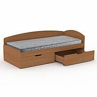 Кровать-90+2С односпальная, детские и подростковые кровати с ящиками для игрушек 95х70х204 см (Компанит)