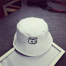 Панама Bucket Hat City-A Кот Tasty Trance Двухсторонняя Черно-белая, фото 2