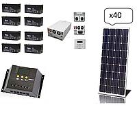 Автономная солнечная система для  дома 10 кВт