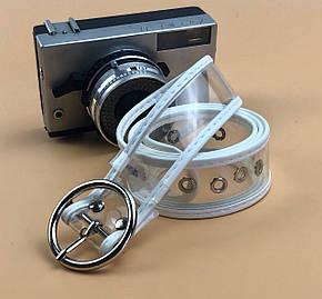 Ремень Пояс City-A Belt 100 см Прозрачный с белой кожей, фото 2
