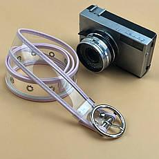 Ремень Пояс City-A Belt 100 см Прозрачный с белой кожей, фото 3