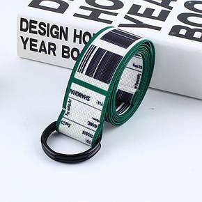 Ремень Пояс City-A TKS Штрих-код Belt 125 см Зеленый, фото 2
