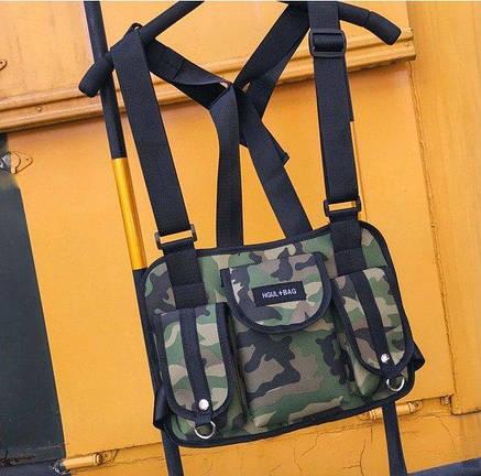 Нагрудная Поясная Сумка Бронежилет Разгрузка City-A Hgul+Bag Big Size Камуфляж Хаки, фото 2
