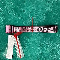 Ремень Пояс Off-White Original Belt Офф Вайт 150 см Розовый с розовой пряжкой