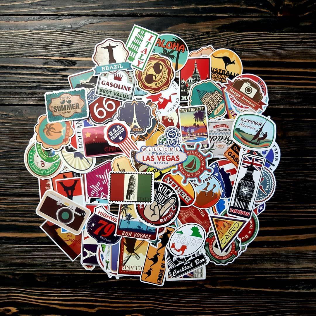 25 шт Водоотталкивающие стикеры на ноутбук, авто, скейт, Стикербомбинг, виниловые наклейки Travel