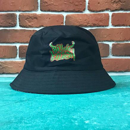 Панама Bucket Hat City-A Билли Айлиш Billie Eilish с надписью Двухсторонняя Черная, фото 2