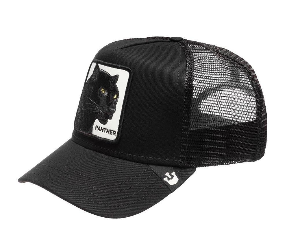 Кепка Бейсболка Тракер с сеткой Goorin Brothers Animal Farm Pantera с Пантерой Черная