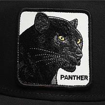 Кепка Бейсболка Тракер с сеткой Goorin Brothers Animal Farm Pantera с Пантерой Черная, фото 3