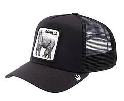 Кепка Бейсболка Тракер з сіткою Goorin Brothers Animal Farm Gorilla з Горилою Чорна