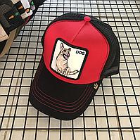 Кепка Бейсболка Тракер з сіткою Goorin Brothers Animal Farm Dog з Собакою Чорно-Червона