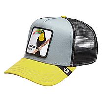 Кепка Бейсболка Тракер з сіткою Goorin Brothers Animal Farm Toucan do it з Папугою Сіро-Жовта