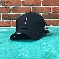 Кепка Бейсболка Мужская Женская City-A Cross с Крестом Черная