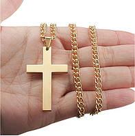 Крестик с цепочкой City-A Большой Ювелирный Сплав Цвет Золотой