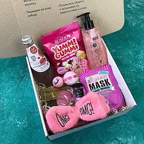 Подарочный Набор City-A Box Бокс для Женщины Сладкий Sweet Бьюти Beauty Box из 11 ед №2858, фото 2