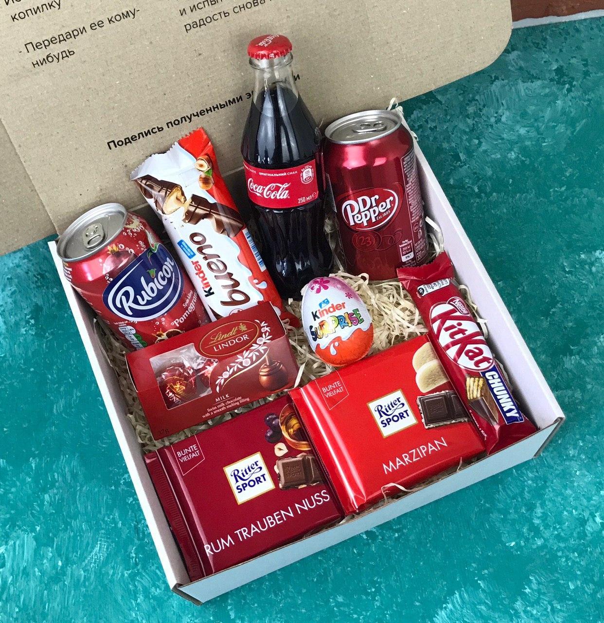 Подарочный Набор City-A Box Бокс для Женщины Мужчины Сладкий Sweet Box из 9 ед №2861
