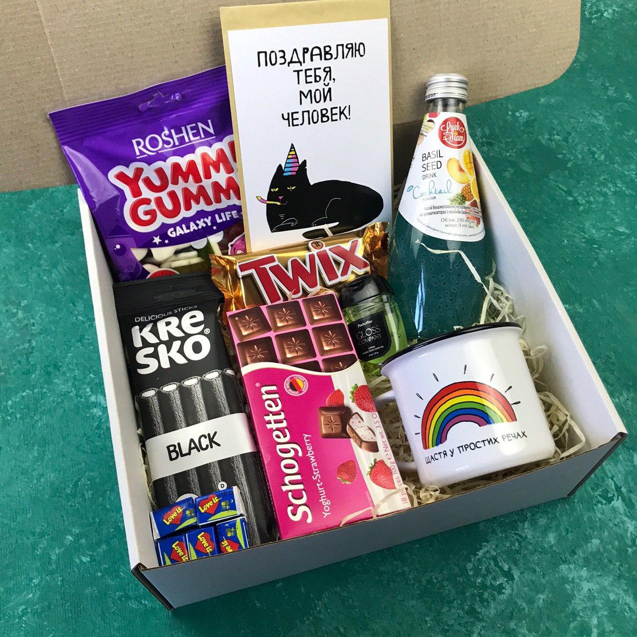 Подарочный Набор City-A Box Бокс для Женщины Мужчины Сладкий Sweet Box из 9 ед №2886