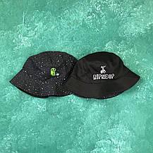 Панама Bucket Hat Ripndip Alien Інопланетянин Двостороння Чорна, фото 2