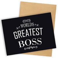 Открытка с конвертом City-A World`s greatest boss