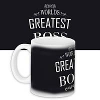 Чашка, Кружка з принтом City-A 330 мл. world's greatest boss