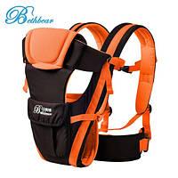 Слинг для новорожденных Bethbear. Эрго рюкзак переноска для детей. Сумка рюкзак кенгуру. Эргорюкзак Оранжевый