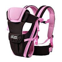 Слинг для новорожденных Bethbear. Эрго рюкзак переноска для детей. Сумка рюкзак кенгуру. Эргорюкзак (розовый)