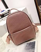 Модный рюкзак женский городской. Рюкзак для девочки из экокожи с заклепками (розовый)