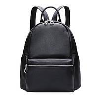 Женский кожаный рюкзак городской. Модный рюкзак женский (черный)