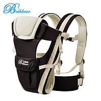 Слинг для новорожденных Bethbear. Эрго рюкзак переноска для детей. Сумка рюкзак кенгуру. Эргорюкзак (бежевый)