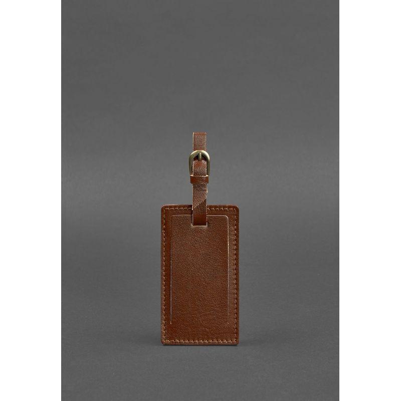 Кожаная бирка для багажа 3.0 Светло-коричневая
